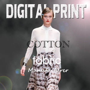 Digital Printed Fabric of Cotton Twill, Cotton Drill for Garment pictures & photos