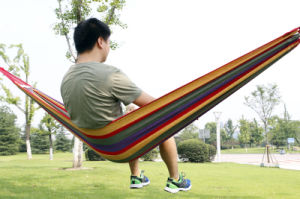 Single Person Cotton Canvas Swing Outdoor Hammock pictures & photos