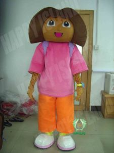 Hi En71 Brown Face Dora Mascot Costume