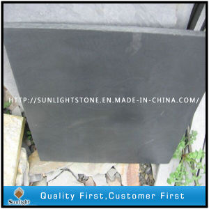 Honed Black Slate for Flooring Tiles pictures & photos