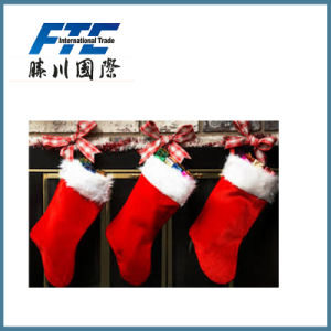 Hot Selling Promotional Plush Christmas Stocking pictures & photos