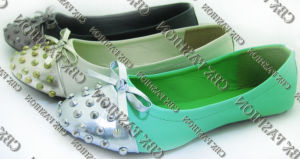 Fashion Bowtie Spikes Toecap Casual Women Flats Shoes A131601590