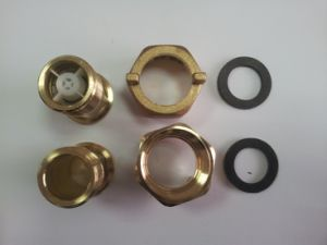 Brass Water Meter Connector with Yellow Brass Color pictures & photos