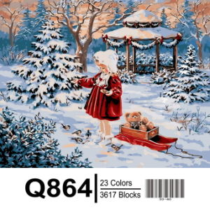 2017 Hot Sale Christmas Decoration Painting, Christmas Digital Painting pictures & photos