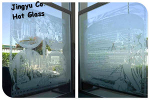 Colored Glass for Bathroom Frosted Glass pictures & photos