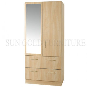 Modern Two Doors with Mirror Wardrobe (SZ-WD018) pictures & photos