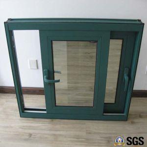 Powder Coated Handle Lock Thermal Breaka Aluminum Sliding Window, Aluminium Window, Aluminum Window, Window K01016 pictures & photos