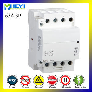 DIN Rail AC Modular Contactor 3pole 63A 220V 50Hz pictures & photos