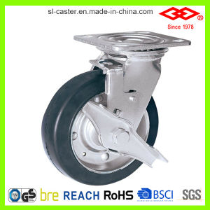 150mm Black Rubber Swivel Locking Caster Wheel (P701-11F150X45S) pictures & photos