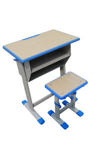 Furniture-Double Drawer School Desk and Chair Lb-D/C-005 pictures & photos