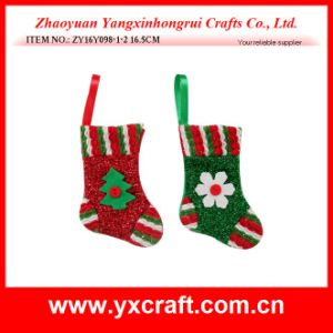 Christmas Decoration (ZY16Y098-1-2 16.5CM) Christmas Sock Type pictures & photos