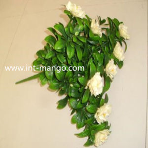PE Plastic Yellow Flower Small Bundle for Hedge Ornamental (MW16030) pictures & photos