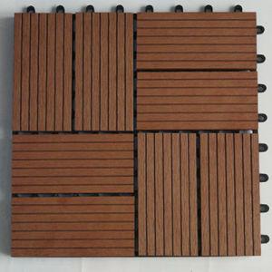 Wood Plastic Composite Flooring/Outdoor Floor Tiles/WPC Decking (HS30S30-3) pictures & photos