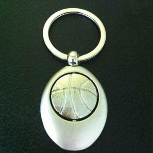 Promotional Sport Gift Customized Engrave Logo Metal Basketball Keychain (F1232)
