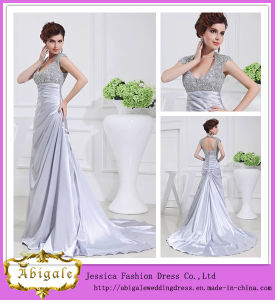 Sexy Fashionable Floor-Length A-Line V-Neck Cap Sleeve Keyhole Back Long Dresses Evening (WD51) pictures & photos