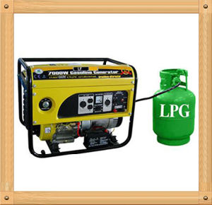 5000W Small Home Use LPG and Gasoline Generator for Sale