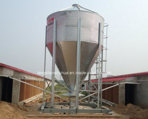 Hot Galvanized Steel Feed Silo for Poultry Feeding