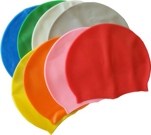 Logo Printed Multi-Color Women Silicone Swimming Cap pictures & photos