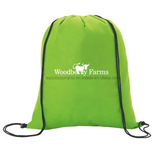 Recycled Non Woven Backpack Drawstring Bag for Promotion pictures & photos