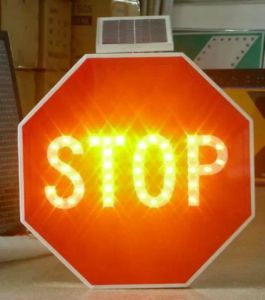 Solar Stop Traffic LED Signs pictures & photos