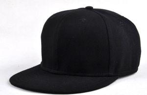 6 Panel Black Snapbacks Hats pictures & photos