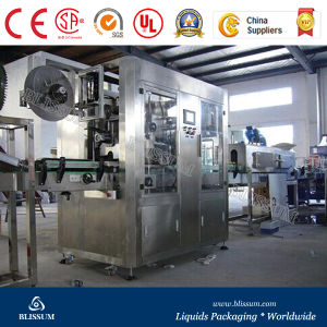 Two Heads Shrink Bottle Sleeve Labeling Machine pictures & photos
