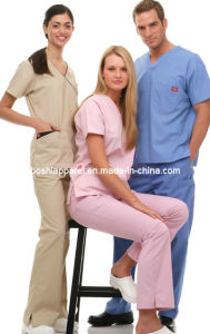 Demure Hospital Uniform for Men and Women Mu-33 pictures & photos