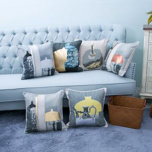 Foil/Gold&Silver Printed Decorative Cushion/Pillow (MX-57) pictures & photos