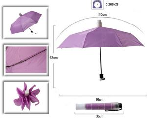 21 Inch 3 Folding Umbrella with Raindrop Cover pictures & photos