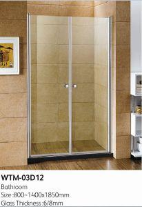 Sample Shower Door for Bathroom Wtm-03D12 pictures & photos
