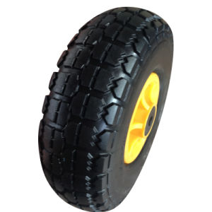 "10inch 10""X4.10/3.50-4 Flat Free PU Foam Wheel pictures & photos"