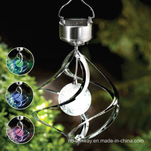 2016 Steel Colorful Rotate Aeolian Bells Solar Garden Hanging Lights pictures & photos