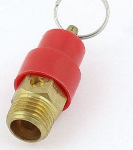 Gold Tone 1/4 PT Male Threaded 4kg Air Compressor Safety Valve pictures & photos