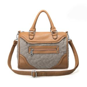 New Style Durable Fabric&Leather Handbag pictures & photos