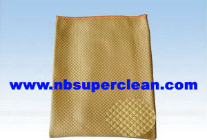 Polyeater/Polyamid Fish Scale Shape Microfiber Diamond Cleaning Cloth (CN3618) pictures & photos