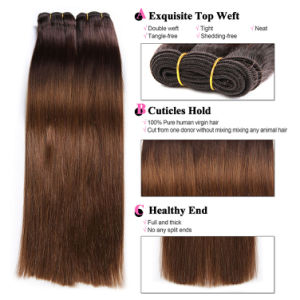 7A Grade 4 Bundles Cambodian Ombre Virgin Hair Bundles with Lace Closure Body Wave pictures & photos