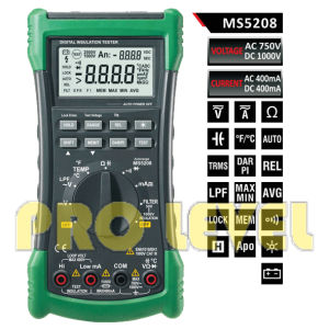 Professional 6600 Counts Insulation Multimeter (MS5208) pictures & photos