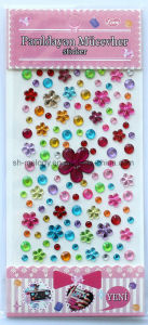Glitzy Flower & Round Rhinestone Stickers/Gem Sticker/Gem Stick-Ons pictures & photos