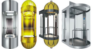Machine Roomless Observation Elevator with Good Quality Glass Cabin pictures & photos