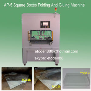 Square Shoes Boxes Folding Gluing Machine