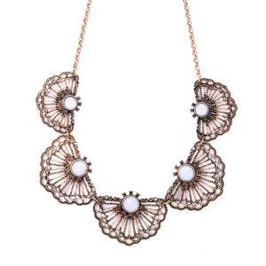 Personality Exaggerated Fan-Shaped Flower Lady Sweater Chain Necklace Jewelry pictures & photos