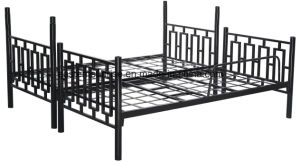 Army Staff Double Decker Layer Steel Iron Metal Bunk Bed pictures & photos