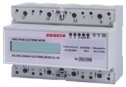 Three Phase Electric DIN-Rail Meter