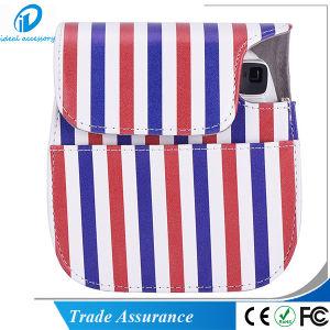 Fujifilm Instax Mini8 Plus Stripe Style PU Leather Mini8 Camera Case pictures & photos