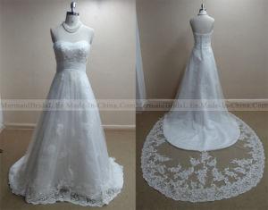 a-Line Ivory Applique Lace Wedding Dress