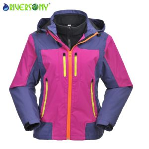 3 in 1 Outdoor Jacket with Waterproof Zipper for Women pictures & photos