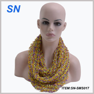 Cheap Promotional 100% Polyester Women Scarf (SN-SMS017) pictures & photos