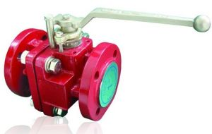 PFA/FEP Lined Ball Valve (ANSI flange 150lb, 300lb) pictures & photos