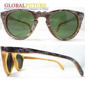 Fashion Stone Pattern Printed Bamboo Sunglasses