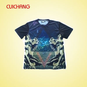 OEM High Quality New Design Plain Round Neck T Shirt pictures & photos